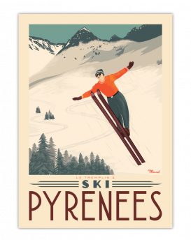 Le tremplin à ski  Pyrénées