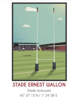Affiche stade Ernest Wallon