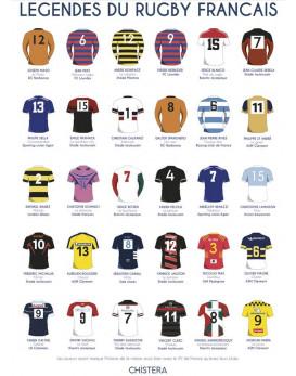 Affiche légendes du rugby...