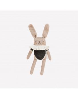 Doudou lapin body noir