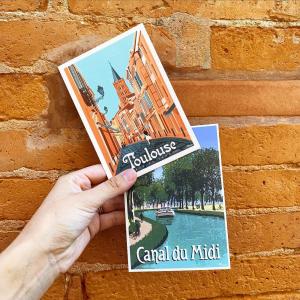 La ville rose et son canal emblématique🌿  A retrouver en format carte postale, 30X40 cm et 50X70 cm. Imprimés à côté d'Hossegor.  #toulouse #villerose #boutiquecreateurs #eshop