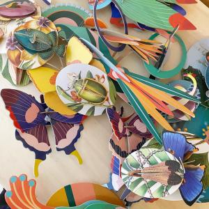 Le cabinet de curiosités 100% eco-friendly🦋  @studioroof crée ces décors muraux en famille avec du carton recyclé exclusivement ou comment apporter facilement de la couleur et de l'originalité à son intérieur.  #recycledcardboard #studioroof #ecofriendly #shopresponsable #toulouse