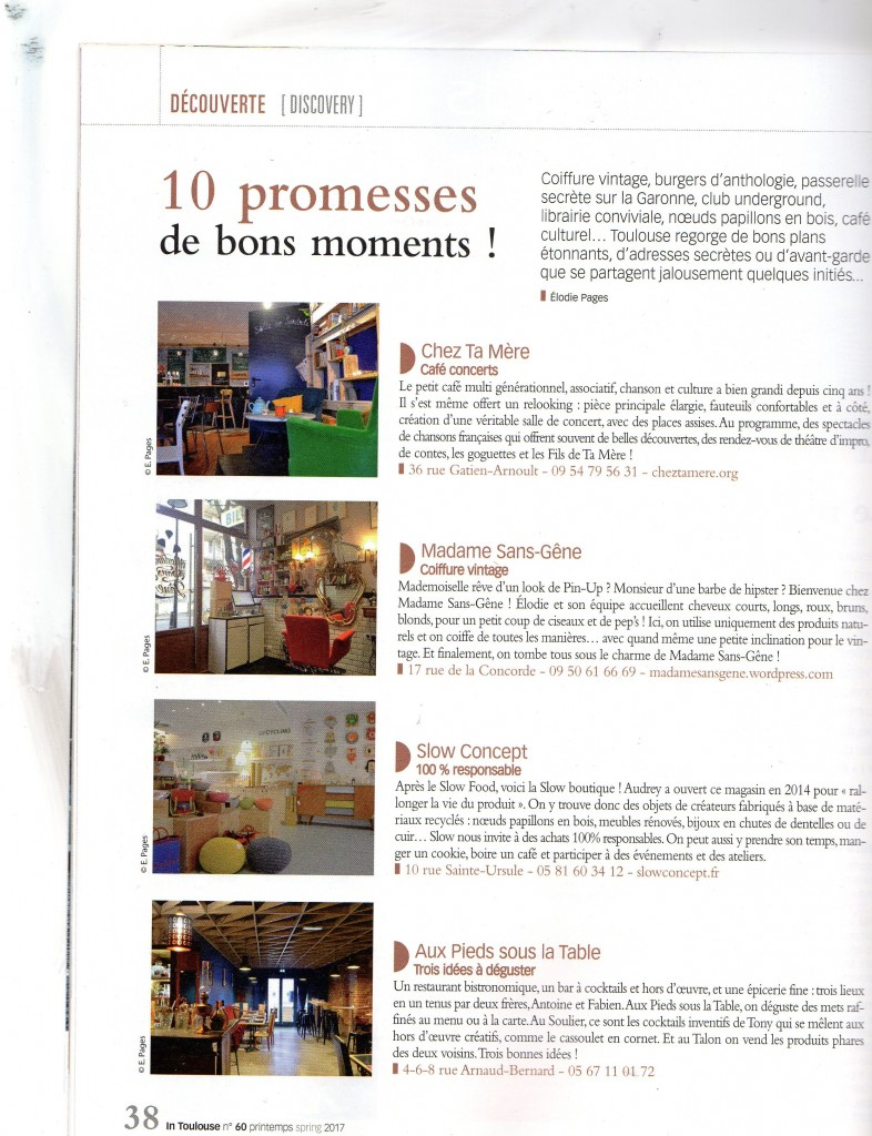 In Toulouse Printemps 2017 Article